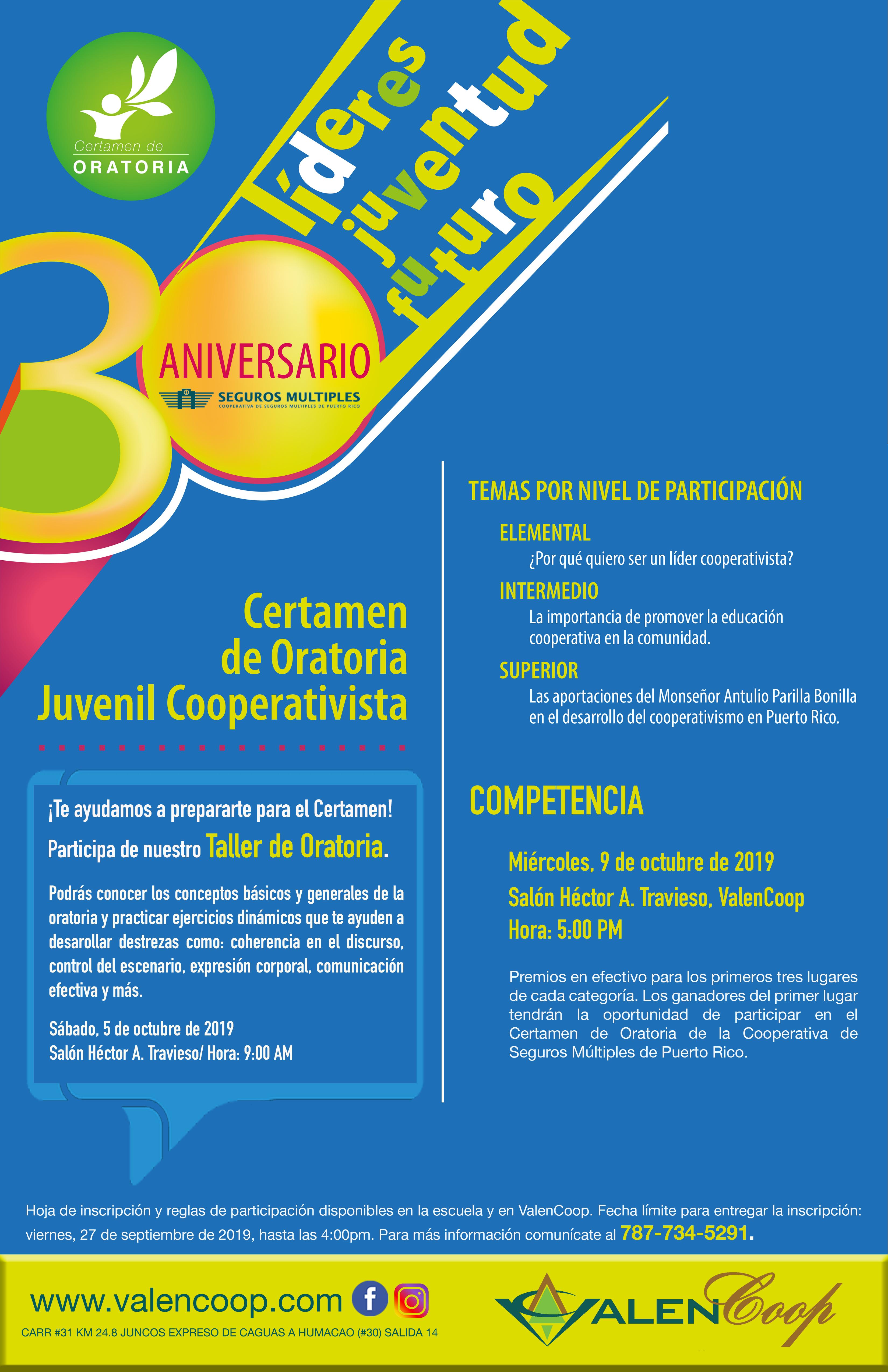 Certamen Oratoria Juvenil 2019
