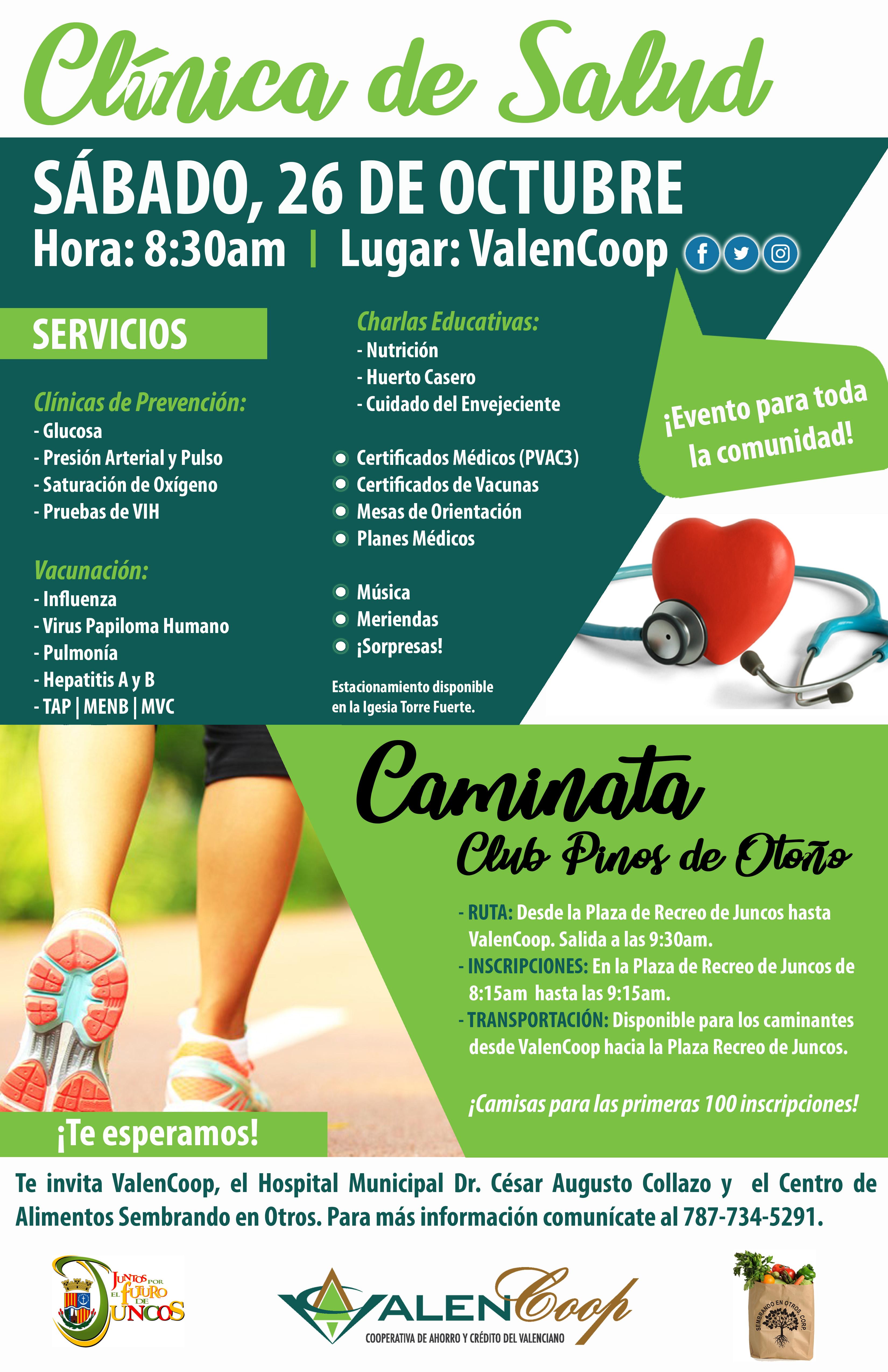 Cartel Clínica de Salud y Caminita